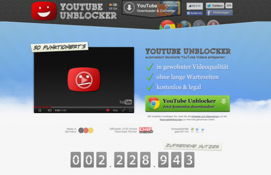 Unblock Youtube Gema