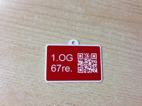 Resopalschild mit QR-Code